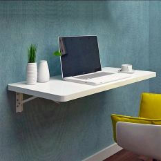 100x40cm Wall-mounted Foldable Table (White)