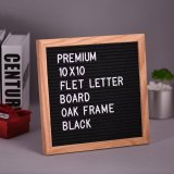 10 10 Felt Letter Board Sign Message Home Office Decor Board Oak Frame With 290 Changeable White Letters Symbols Numbers Characters Bag Wall Mount Hook Intl Discount Code