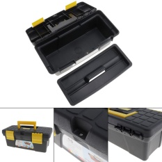 10Protable Multifunctional Tool Box with Removable Two-Layer Tobe Tray Tool Kit - intl