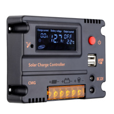 10A 12V 24V Solar Charge Controller Panel Regulator Auto Switch Overload Protection Temperature Compensation(Export)