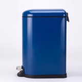 Low Cost 10L Stainless Steel Pedal Step Oval Trash Can Fashion Design Ultra Silence Dustbin Blue Intl