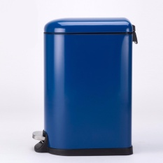 Deals For 10L Stainless Steel Pedal Step Oval Trash Can Fashion Design Ultra Silence Dustbin Blue Intl