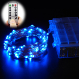 10M 100 Leds 33Ft 8 Modes Waterproof Warm White Battery Operated Led String Lights Fairy Lights Christmas Lights With Remote Control Blue Cheap