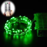 Sale 10M 100 Leds 33Ft 8 Modes Waterproof Warm White Battery Operated Led String Lights Fairy Lights Christmas Lights With Remote Control Green Online China