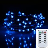 10M 100Leds Battery Operated Remote Control Led Fairy String Light 8 Lighting Modes Indoor Outdoor Decor Lamp Intl For Sale
