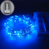 Review 10M 100Leds Waterproof Led Battery String Lights Silver Wire 8 Modes Led Starry Light Fairy Lights With Wireless Handheld Remote Blue Er Chen On China