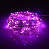 Best 10M 100Leds Waterproof Led Battery String Lights Silver Wire 8 Modes Led Starry Light Fairy Lights With Wireless Handheld Remote Pink