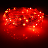 Sale 10M 100Leds Waterproof Led Battery String Lights Silver Wire 8 Modes Led Starry Light Fairy Lights With Wireless Handheld Remote Red