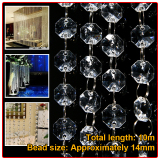 10M Acrylic Crystal Bead Garland Piece Curtain Wedding Party Supplies Decor Free Shipping