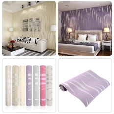 Best Reviews Of 10M Home Improvement High End Luxury 3D Wave Flocking Wallpaper Rolls New Intl