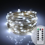 Cheap 10M Remote Control Battery Led String Fairy Light Xmas Party Decor Rope Lamp Intl