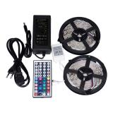 Wholesale 10M Rgb 5050 Waterproof Led Strip Light 300 Smd 44 Key Remote 12V 5A Power Intl