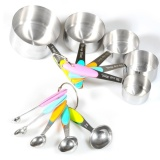10Pc Stainless Steel Kitchen Tool Set Measuring Cups Spoons Silicone Insulation Intl Sale