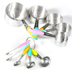 10Pc Stainless Steel Kitchen Tool Set Measuring Cups Spoons Silicone Insulation Intl Coupon Code
