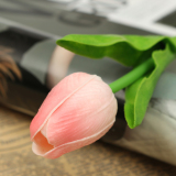 Coupon 10Pcs Artificial Tulip Flower Latex Real Touch Bridal Wedding Bouquet Home Decor Pink Intl