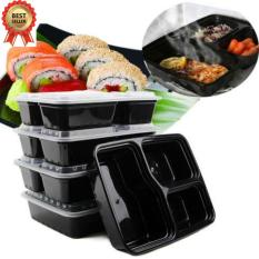 Sale 10Pcs Meal Food Storage Microwavable 3 Compartment Lunch Box Intl China Cheap