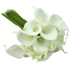 10pcs New 13 Mini Calla Lily Bridal Wedding Bouquet Artificial Flowers