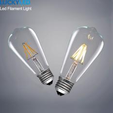 Where To Buy 10Pcs Pack E27 6W St64 Retro Filament Cob Led 3000K Lamp Warm White Vintage Light Bulb Warm White