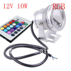 10W 12V Underwater Rgb Waterproof Led Pool Light With Remote Control Intl Price Comparison