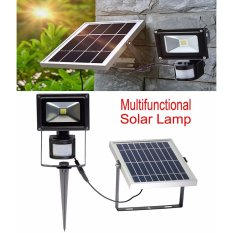 Price 10W Super Bright Solar Motion Sensor Flood Lights Outdoor Intelligent Wall Lamp Two Modes 6000K Cool White Waterproof Security Rechargeable Lamp Aluminum Intl China
