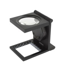 10x Tri-Folding Magnifier Desktop Magnifying Glass LED Light Stand Repairing Tool - intl