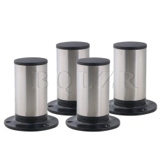 10x8.5cm Furniture Table Sofa Bed Cabinet Legs Feet Set of 4 Silver - intl
