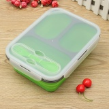 Compare 1100Ml Silicone Collapsible Portable Lunch Box Bowl Bento Boxes Folding Food Storage Container Lunchbox Eco Friendly Green Intl Prices