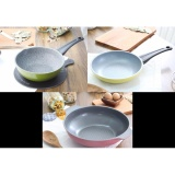 Buy 1 1 1 Lowenthal Korean Best Selling 6 Ply Stone And Titanium Coating Frying Stir 1 X Pan 20 Cm 1 X Wok 20 Cm 1 X Wok 28 Cm With Double Grips Set Online