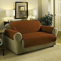 Great Deal 116 X 190Cm 2 Seater Quilted Slipcover Furniture Protector Sofa Seat Cover Waterproof Coffee Intl