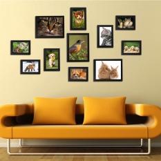 11Pcs Wall Hanging Photo Frame Set Family Picture Display Modern Art Home Decor Black - intl