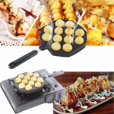 How To Buy 12 Holes Takoyaki Pan Octopus Small Balls Maker Baking Grill Pan 33 8X18X2 5Cm Intl
