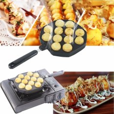 Cheapest 12 Holes Takoyaki Pan Octopus Small Balls Maker Baking Grill Pan 33 8X18X2 5Cm Intl