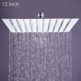 Sale 12 Inch High Pressure Ultra Thin 201 Stainless Steel Square Rain Shower Head Silver Intl Oem Online