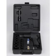 1/2-Inch Square Drive Air Impact Wrench Kit with 8000 RPM Color Black - intl