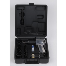 1/2-Inch Square Drive Air Impact Wrench Kit with 8000 RPM Color Silver - intl