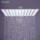 Purchase 12 Inch Ultra Thin Square Stainless Steel Rainfall Shower Head Top Shower Intl Online