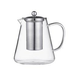 1200Ml Heat Resistant Borosilicate Glass Teapot Stainless Steel Infuser Lid Tea Flower Herbal Pot Intl Reviews