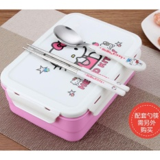Best 1200Ml Stainless Steel Cartoon Lunch Box Lunch Box Boxing Box Lunch Pupil Children Double Layer Plate Fast Food Box Intl