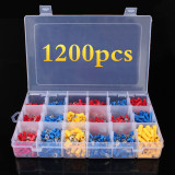 Sale 1200Pcs Assorted Crimp Terminals Set Kits Insulated Electrical Wiring Connectors Intl China