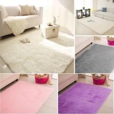 120x170 Fluffy Rugs Anti-Skid Shaggy Area Rug Room Home Bedroom Carpet Floor Mat - intl
