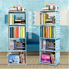 122*40*30cm DIY Free Combination Shelf Nonwovens Floor Living Room Kitchen Bathroom Storage Rack Simple Bookcase Bookshelf Creative Multilayer Shelf - intl