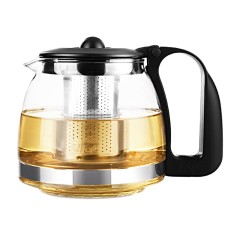 1250Ml Clear Glass Teapot High Temperature Resistant Loose Leaf Flower Tea Pot Maker Brewer With Stainless Steel Infuser Strainer Lid Intl Sale