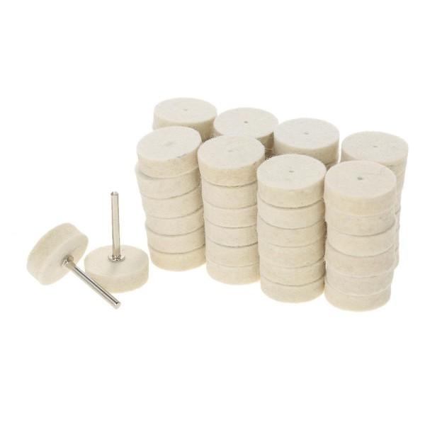 129pcs Abrasive Polishing Wheel Polishing Tools Wool Felt Metal Surface Buffing Accessories for Dremel Rotary Tool - intl