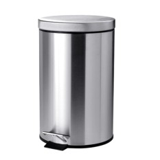 Top Rated 12L Stainless Steel Pedal Waste Bin Dustbin