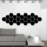 Latest 12Pcs 3D Hexagon Mirror Decal Wall Stickers Home Art Diy Living Room Decor Gifts Home Office Decor Supplies Intl