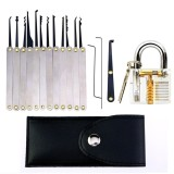 12Pcs Practice Lock Set Lock Pick Extractor Lockpicking Set With Transparent Professional Visible Cutaway Inside View Padlock For Beginners Unlocking Practice Intl On Hong Kong Sar China