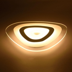 12W Modern Ultrathin LED Lamp Flush Mount Ceiling Light Mango 3-Color Adjustable - intl