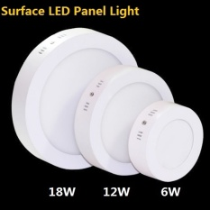 12w Surface Mounted LED Panel Light Round LED Downlight Ceiling Lamp Kitchen Ligting Lamp (Warm White) - intl