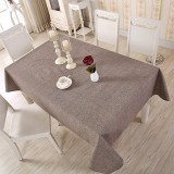 Price 130 180Cm Cotton Linen Tablecloth Solid Color Home Party Dinner Table Covers Tea Coffee Rustic Table Cloth Intl On China