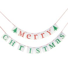 131621601685 New Vintage Paper Cards Christmas Bunting Banner Xmas Party Hanging Decoration By Qiaosha.